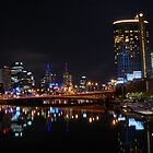 Melbourne At Night by Ngakeone