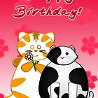 Frazzle and Basil Happy Birthday Card by frozenfa