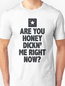 Are You Honey Dicking Me RIght Now Shirt Unisex T-Shirt
