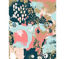 Eisley - Modern abstract painting in bright fun happy beachy colors for trendy girls college decor Photographic Print