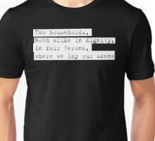 Verona - Romeo & Juliet - Shakespeare  Unisex T-Shirt