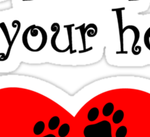 Great Pyrenees Leave Paw Prints On Your Heart Sticker