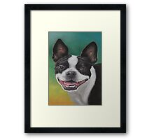 """""""Lady"""" with a Big Smile Framed Print"""