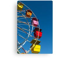 Ferris Wheel on Blue Canvas Print