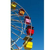 Ferris Wheel on Blue Photographic Print