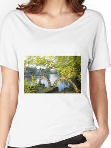 Bakewell Weir Sluice Gates Women's Relaxed Fit T-Shirt