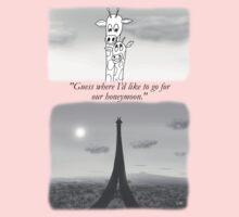 Giraffes dreaming of Paris One Piece - Short Sleeve