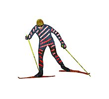 Cross country skiing Photographic Print