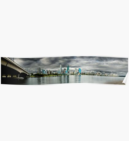 Overcast Perth Poster