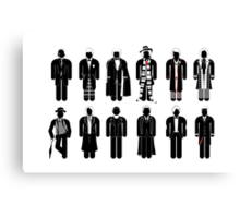 Doctor Who - Timelord Recognition guide - laptop Canvas Print