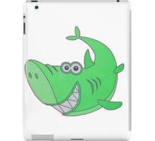 Big Green Cartoon Shark iPad Case/Skin
