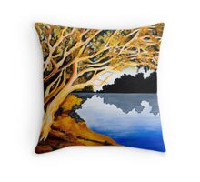 Burnt Umber on Coongie Lakes Throw Pillow
