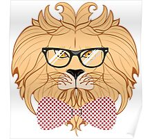 Lion Hipster 2 Poster