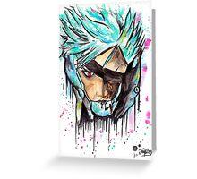 Metal Gear Solid Rising - RAIDEN - Grafitti art - T shirts + More Jonny2may Greeting Card