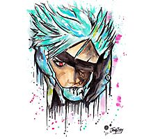 Metal Gear Solid Rising - RAIDEN - Grafitti art - T shirts + More Photographic Print