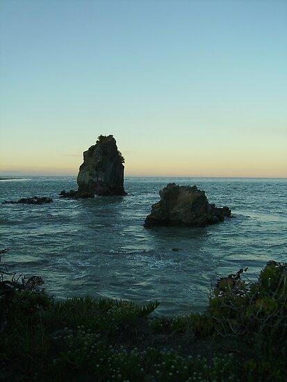 Shag Rock at Sunset 1 by skyhorse