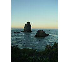 Shag Rock at Sunset 1 Photographic Print