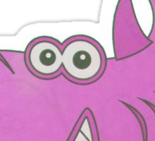 Big Pink Cartoon Shark Sticker