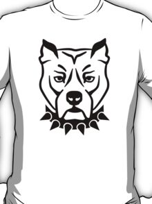 Pit bull head face T-Shirt