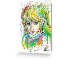 Epic Link Watercolor Tshirts + More ' Legend of Zelda ' Jonny2may Greeting Card