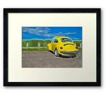 Bright Beetle Framed Print