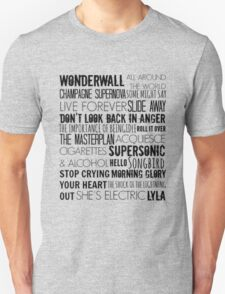 Oasis Songs  T-Shirt