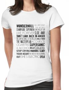 Oasis Songs  Womens Fitted T-Shirt