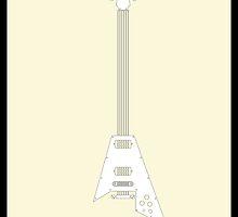 Guitar Art - Flying V  by PPWGD