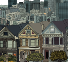 San Francisco Painted Ladies Sticker