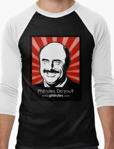 Phil Rules. Do you? (Dr.) Men's Baseball ¾ T-Shirt