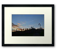 Evening Sky at Lyme Dorset UK Framed Print