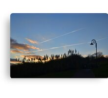 Evening Sky at Lyme Dorset UK Canvas Print
