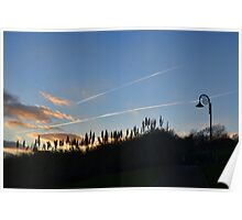 Evening Sky at Lyme Dorset UK Poster