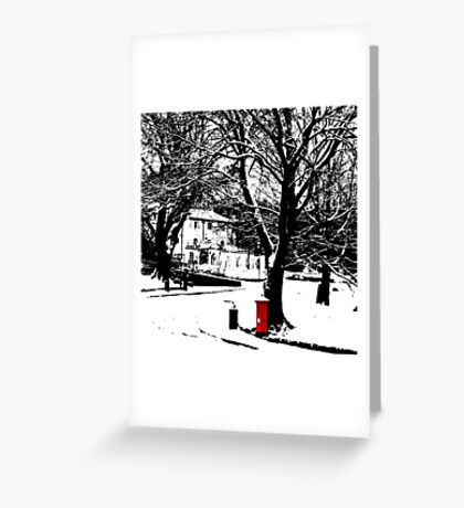 Victorian Postbox Greeting Card