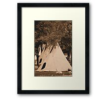Three Little Indians Framed Print
