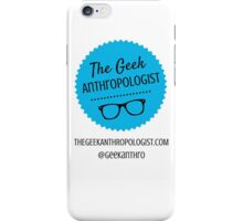 The Geek Anthropologist Logo and Contact Infos iPhone Case/Skin