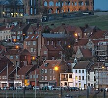 Whitby at Night by Ann Garrett