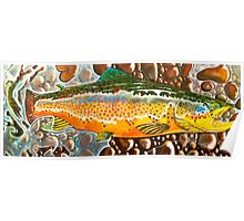 Pumpkin Seed - Trout Painting Poster