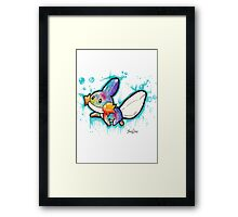 Cute Mudkip Watercolor Tshirts + More! ' Pokemon ' Framed Print