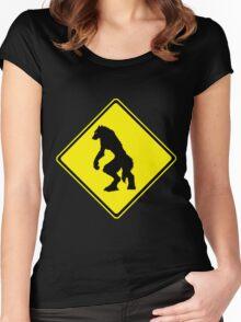 Werewolf Crossing Women's Fitted Scoop T-Shirt