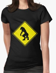 Werewolf Crossing Womens Fitted T-Shirt