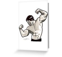 Bicep Pose Greeting Card