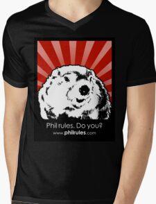 Phil Rules. Do you? (Punxsutawney) Mens V-Neck T-Shirt