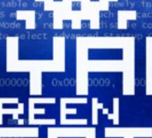 Cyan Screen Sticker