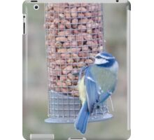 Feeding time for Blue Tit............ iPad Case/Skin