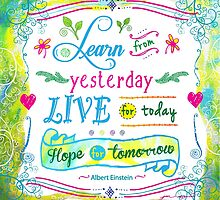 Learn from Yesterday, Live for Today by Jan Marvin by Jan Marvin
