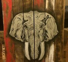 Alabama Elephant - State Pallets by Statepallets