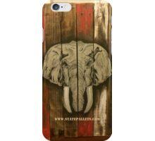 Alabama Elephant - State Pallets iPhone Case/Skin