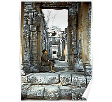 Passing Time - Temples of Angkor, Cambodia Poster