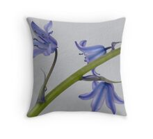 French bluebells Throw Pillow
